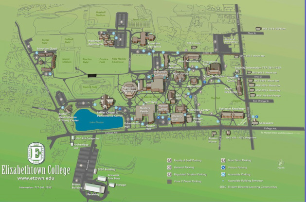 Elizabethtown College Map FAQs   Jaycon 9 February 23 24th 2019 Elizabethtown, PA